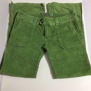 Roxy Green Corduroy Pants Juniors Size 11